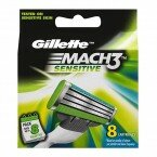 Кассеты Gillette Mach3 Sensitive 8шт  Оригинал. Германия.